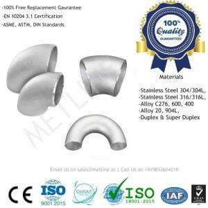 Nickel Alloy Elbow Manufacturers, Suppliers, Factory - Inconel, Monel, Hastelloy, Incoloy