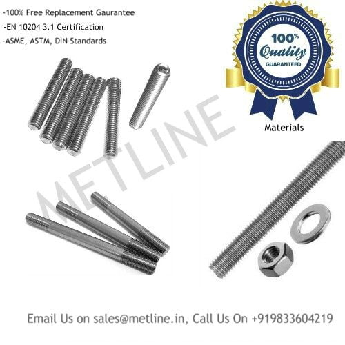 Inconel Alloy 625 Studs, Alloy 718 Studs Studbolts, Threaded Bars Manufacturers Suppliers, Factory