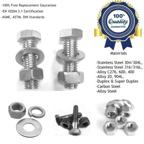 Inconel Hexagon Hex Head Bolts Manufacturers, Suppliers, Factory