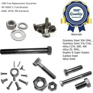Stainless Steel Nuts & Bolts Manufacturers, Suppliers, Factory